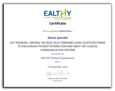 Ealthy certificate